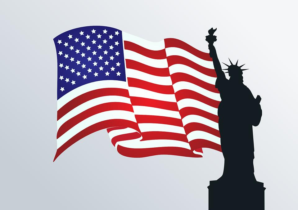 usa flag statue of liberty ...