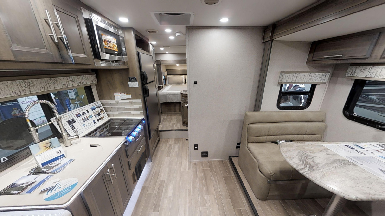 Dynamax Isata 3 interior pic luxury class c with 2 slides