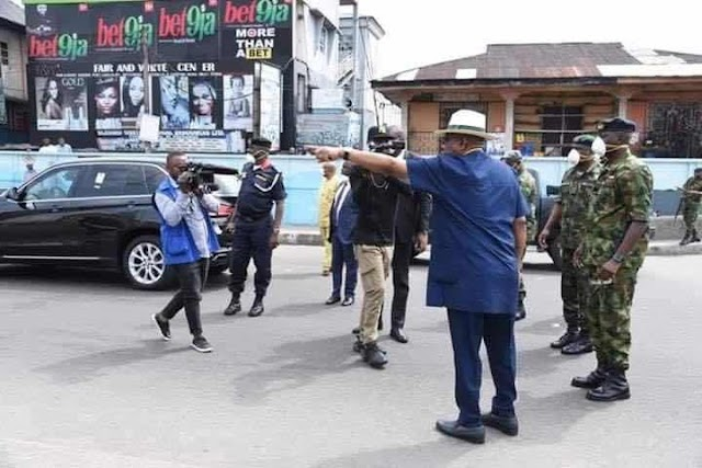 COVID-19 CURFEW : GOVERNOR WIKE MONITORS LEVEL OF COMPLIANCE