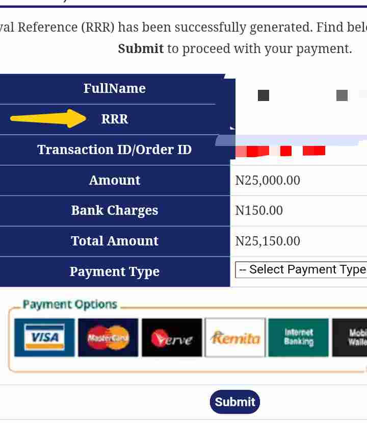 How to print Unilorin acceptance fees receipt
