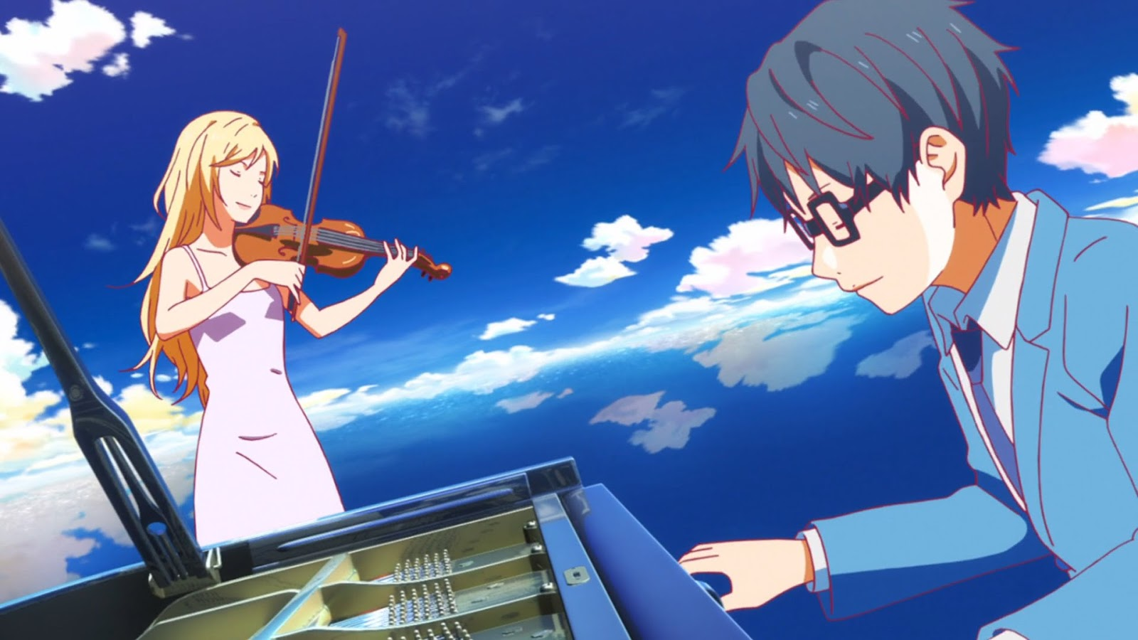 Image result for kousei your lie in april on the piano