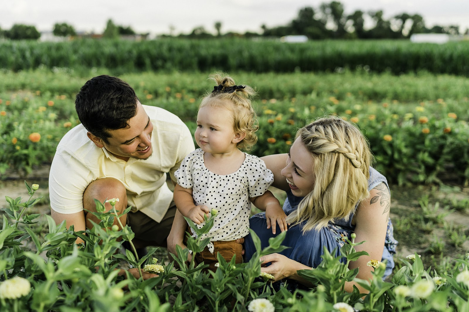 Family photo ops at Harvest Tyme Farm Park in Lowell, IN. Flower Fields in indiana.