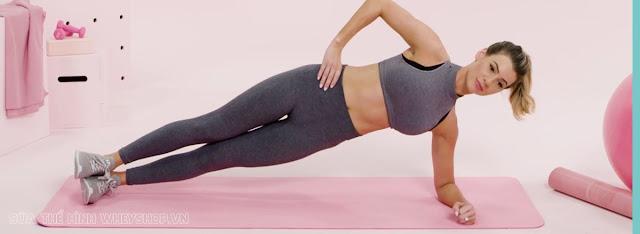 Tập Plank 1 bên giảm cân