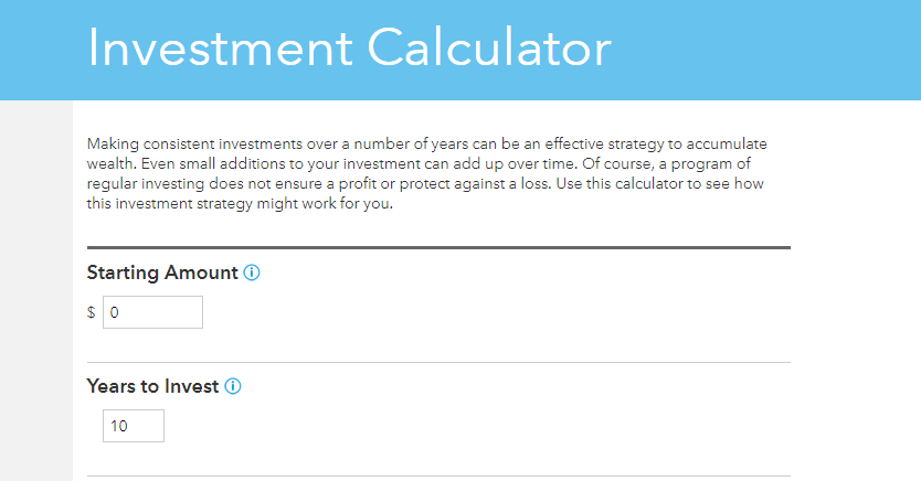 American Funds Investment Calculator