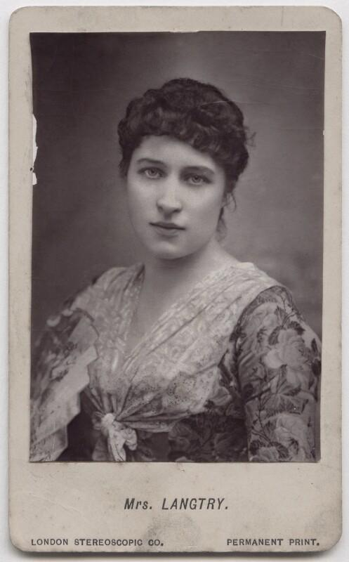Lillie Langtry, by London Stereoscopic & Photographic Company, 1880-1890 - NPG x197128 - © National Portrait Gallery, London