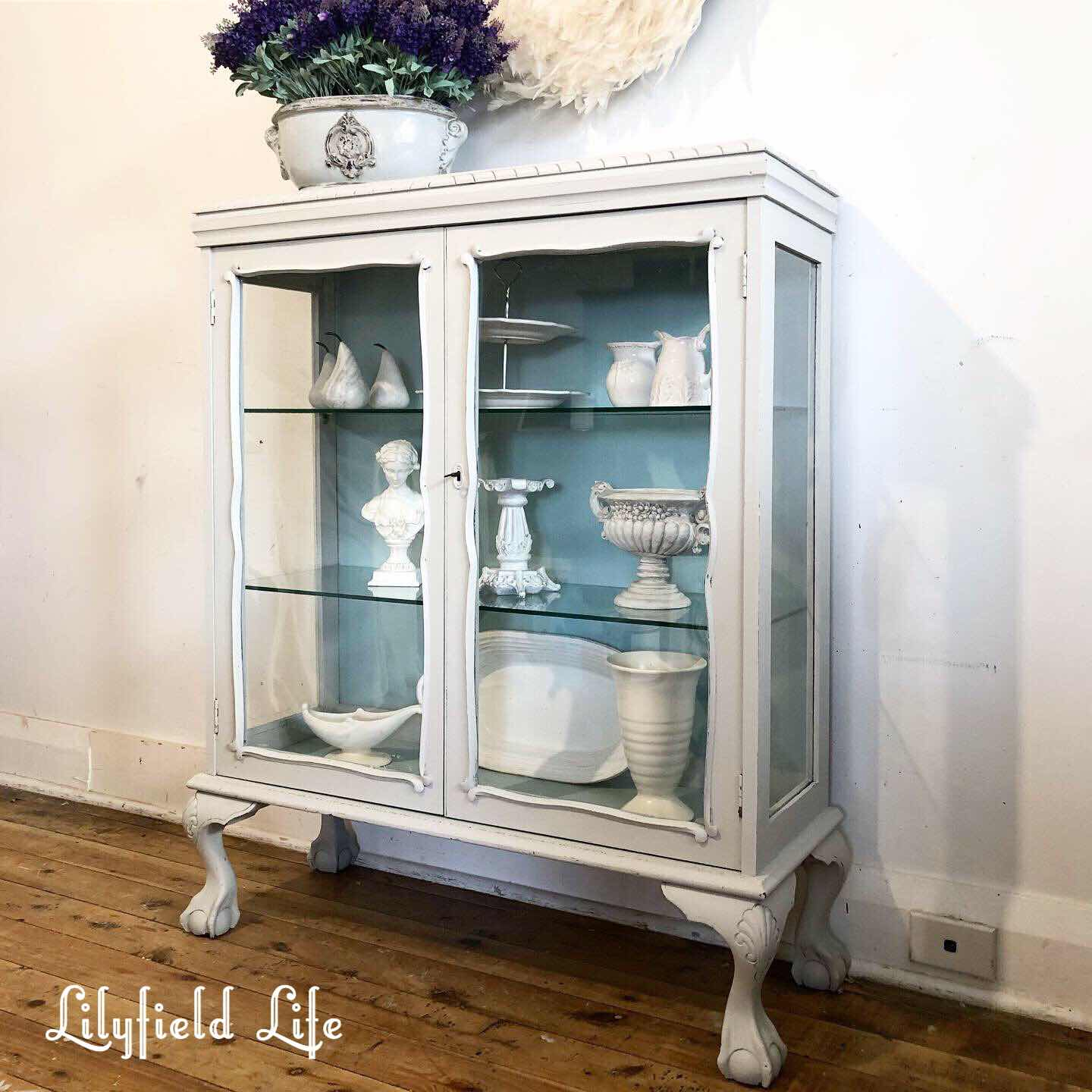 lilyfield life china cabinet hand painted