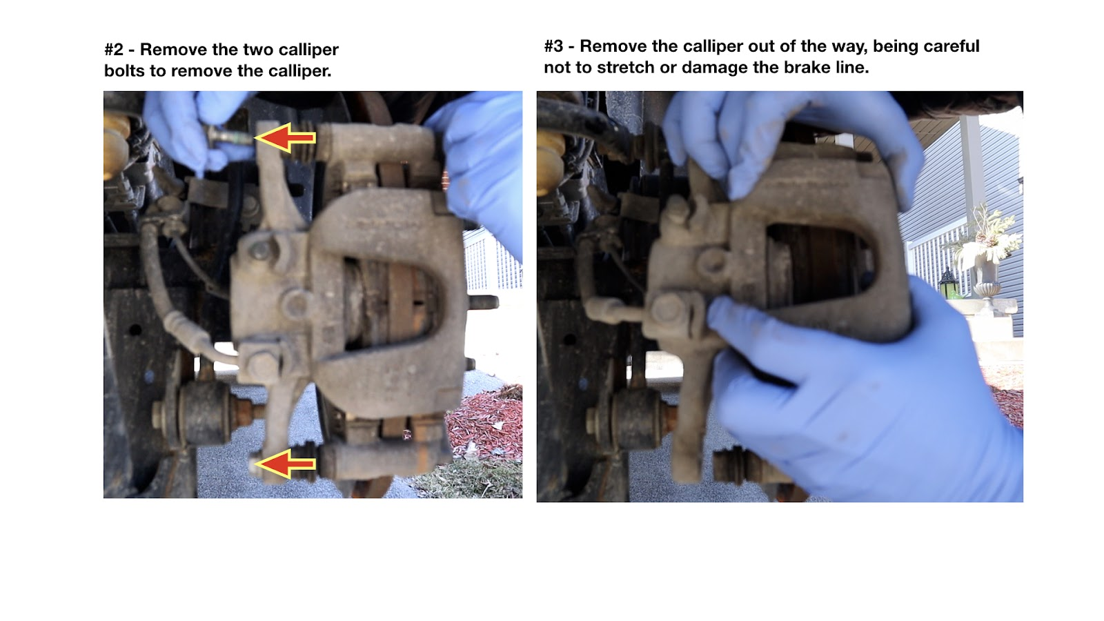 Remove Calliper Bolts and Calliper