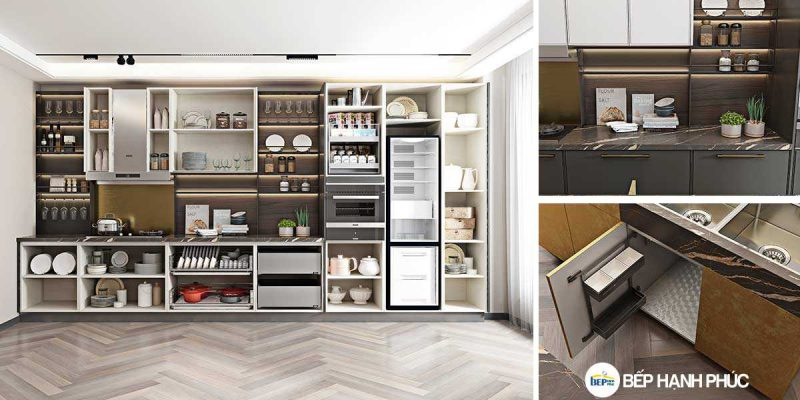 5 Mẫu Kệ Bếp, Tủ Bếp Bằng Nhựa PVC Đẹp 1