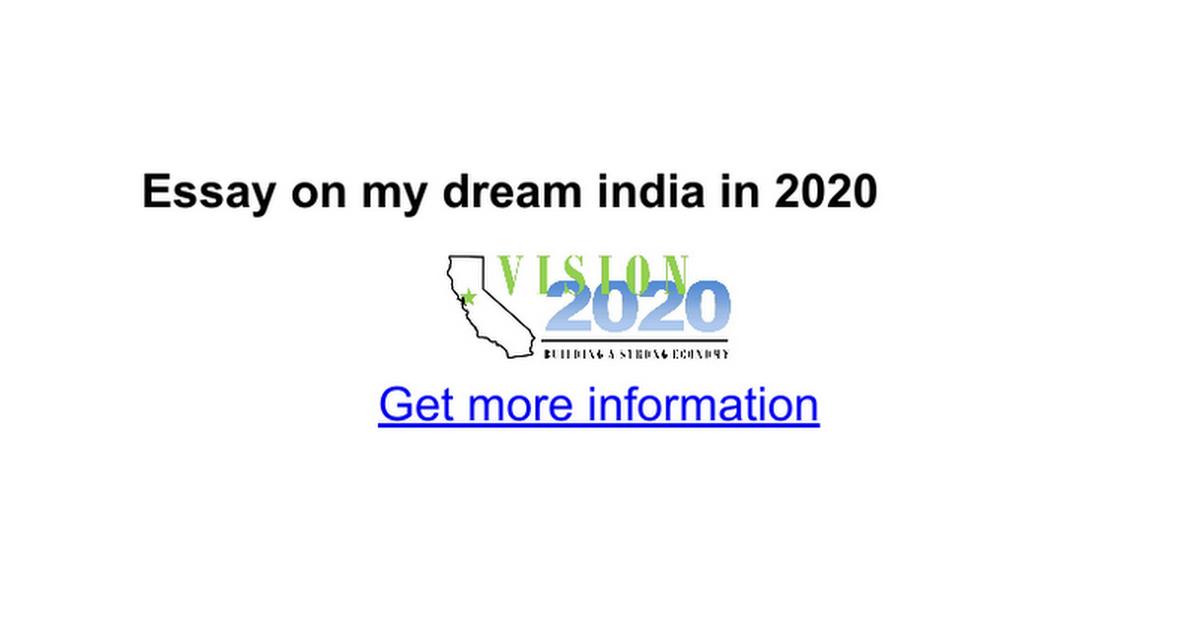 essay on my dream in google docs