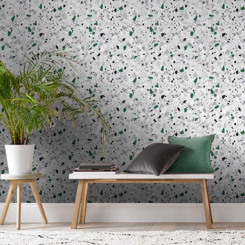 Papier Peint Terrazzo Vert, , large