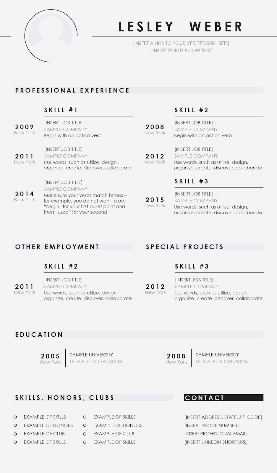 Free Psd Resume Templates To Help Yours Stand Out  Goskills