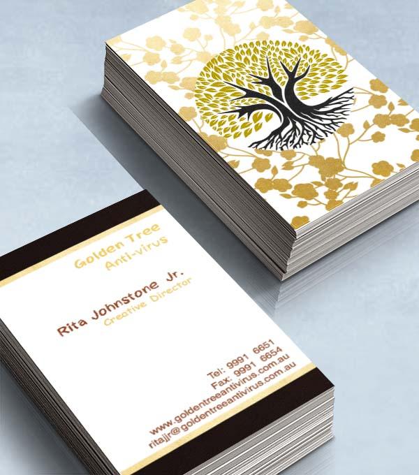 燙金樹卡片
