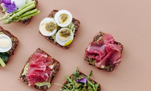 Prosciutto, mortadella, and other cold cuts are delicious on bread for an Italian breakfast,