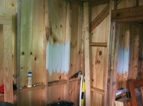 BM Titanium inside shed