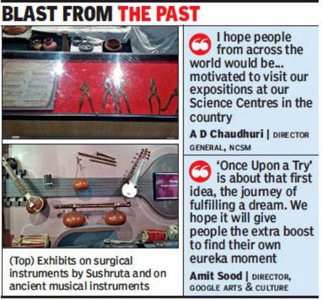 Image result for 6 Sections of the exhibition on Science and Technology of India in Once upon a try