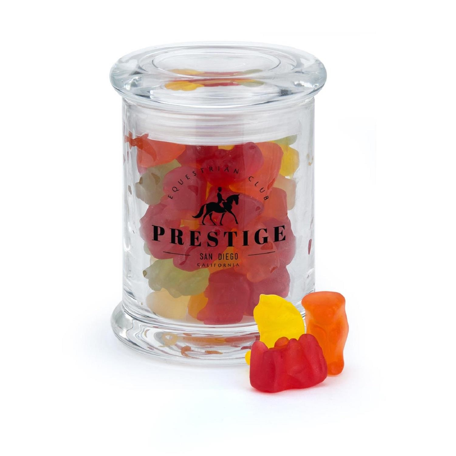 Small Glass Jar Filled With Candy Of Choice