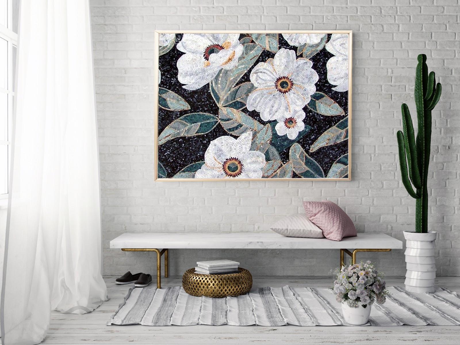 Cymbidium Flowers Mosaic Pattern by Mozaico