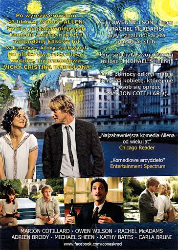 Tył ulotki filmu 'O Północy W Paryżu'
