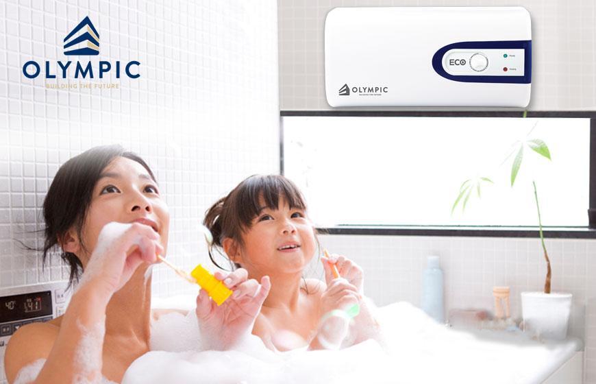 Sử dụng bình nóng lạnh khi tắm cho trẻ