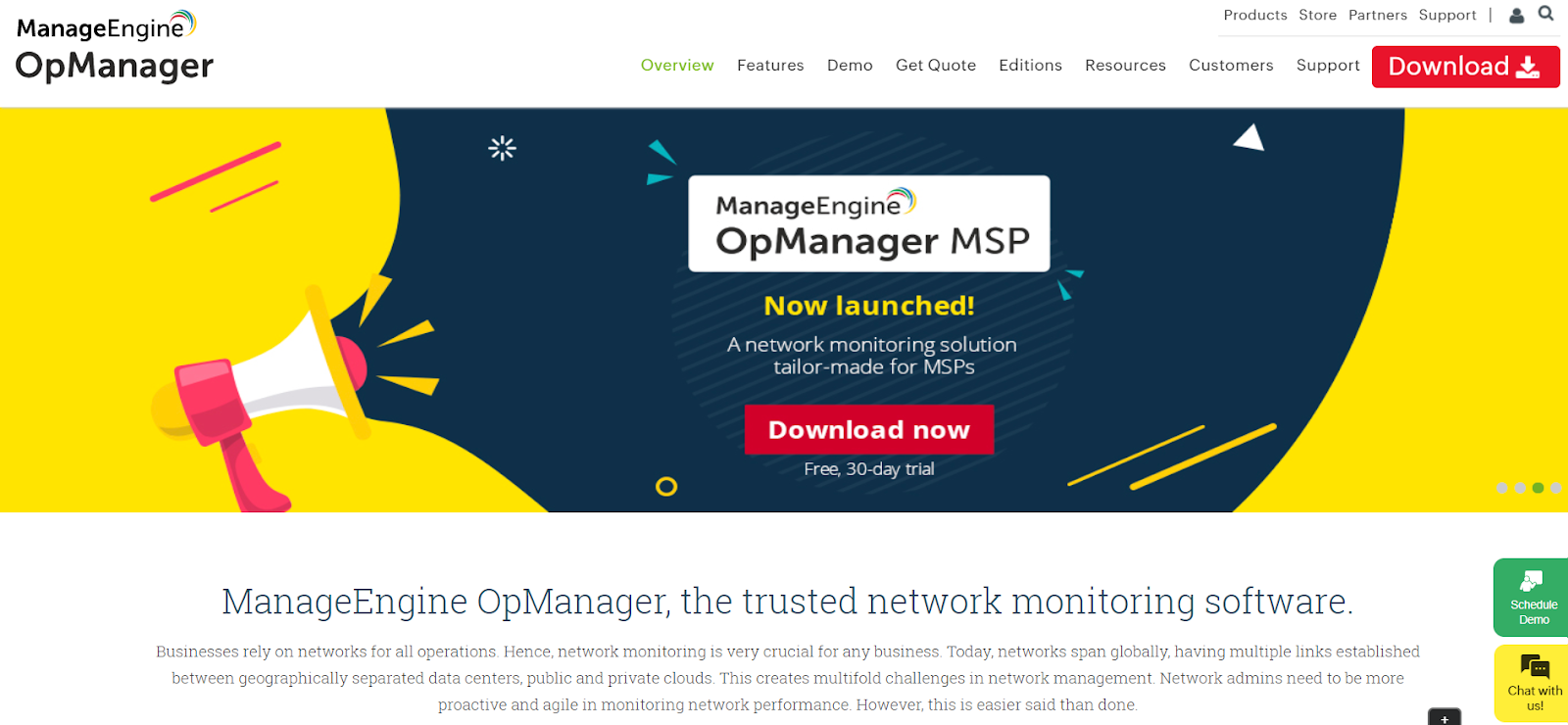 ManageEngine OpManager Network Performance Monitoring Tool