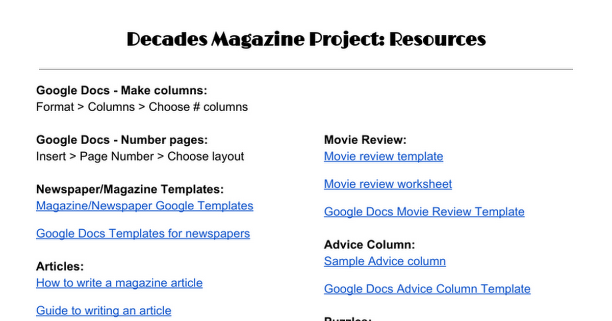 Decades project resources google docs pronofoot35fo Gallery