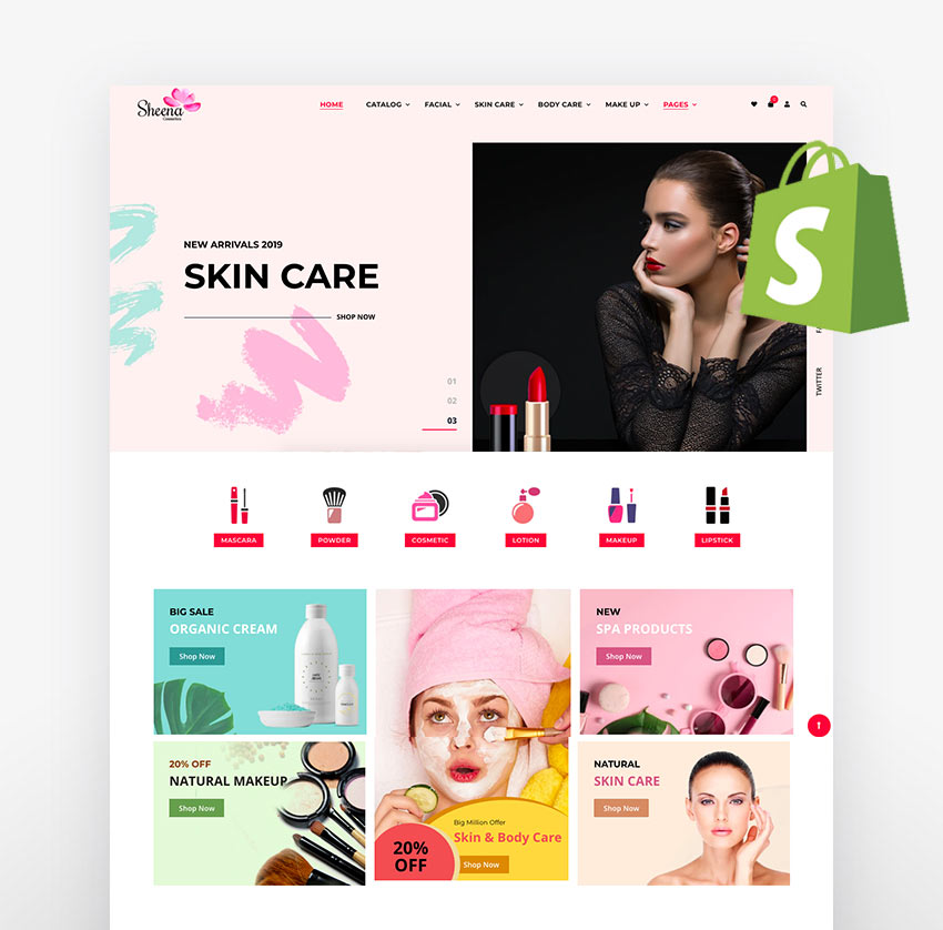 Shopify skin care themes Sheena
