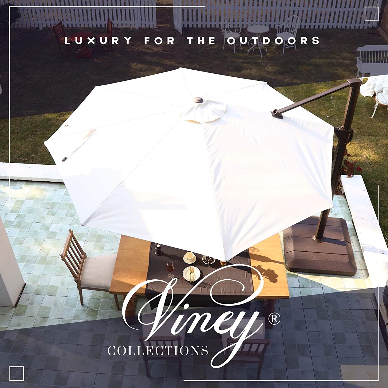 VINEY Banquet 11 ft. Aluminum Cantilever Umbrella Offset Patio Umbrella Outdoor Market Umbrella