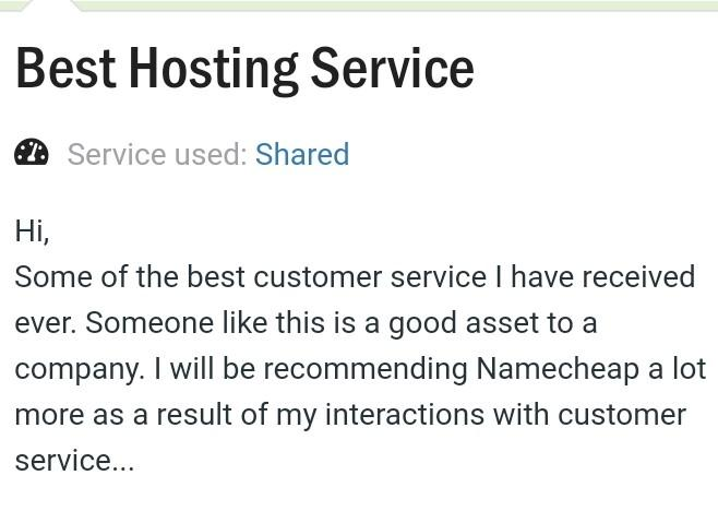 name cheap is counted as best hosting service