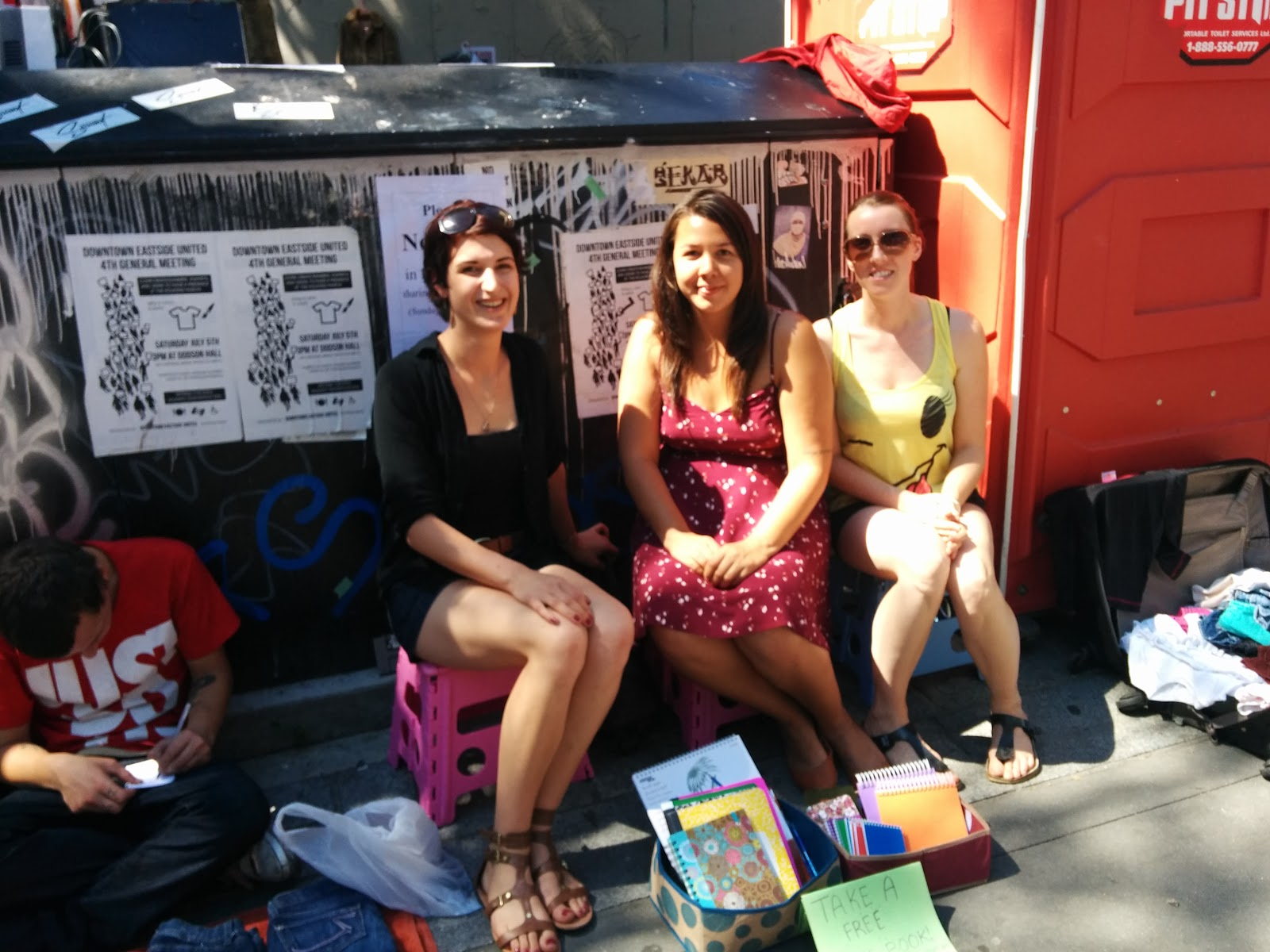 Rachel, Jess, Crystal (Volunteers - Aug 11th DTES Street Market).jpg