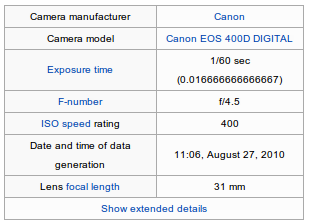 shutter count infomation