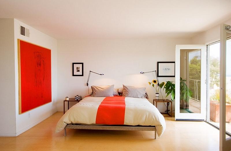 Penggunaan warna terang pada kamar tidur minimalis - source: decoist.com