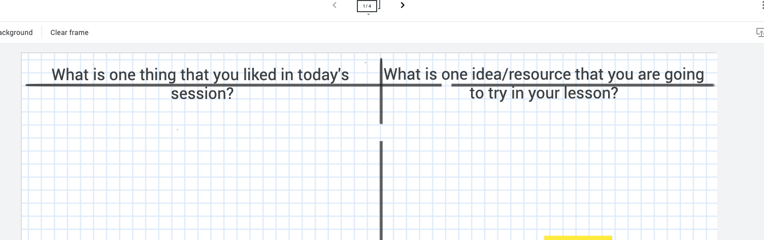 Screenshot of two Exit Ticket questions in a table