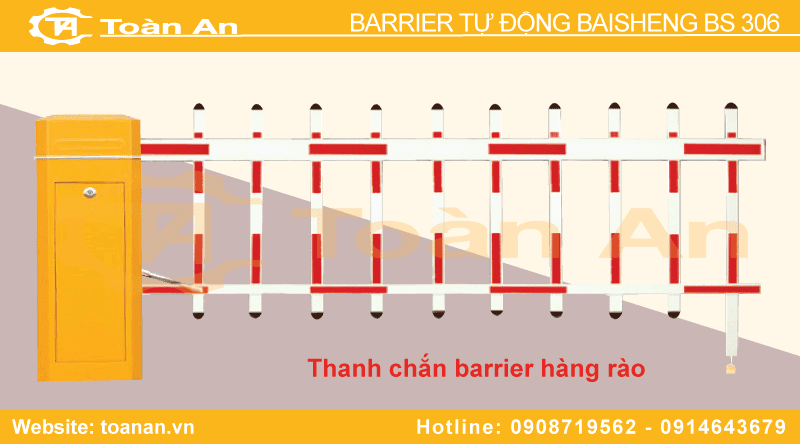 Thanh chắn hàng rào của barrier tự động baisheng bs 306