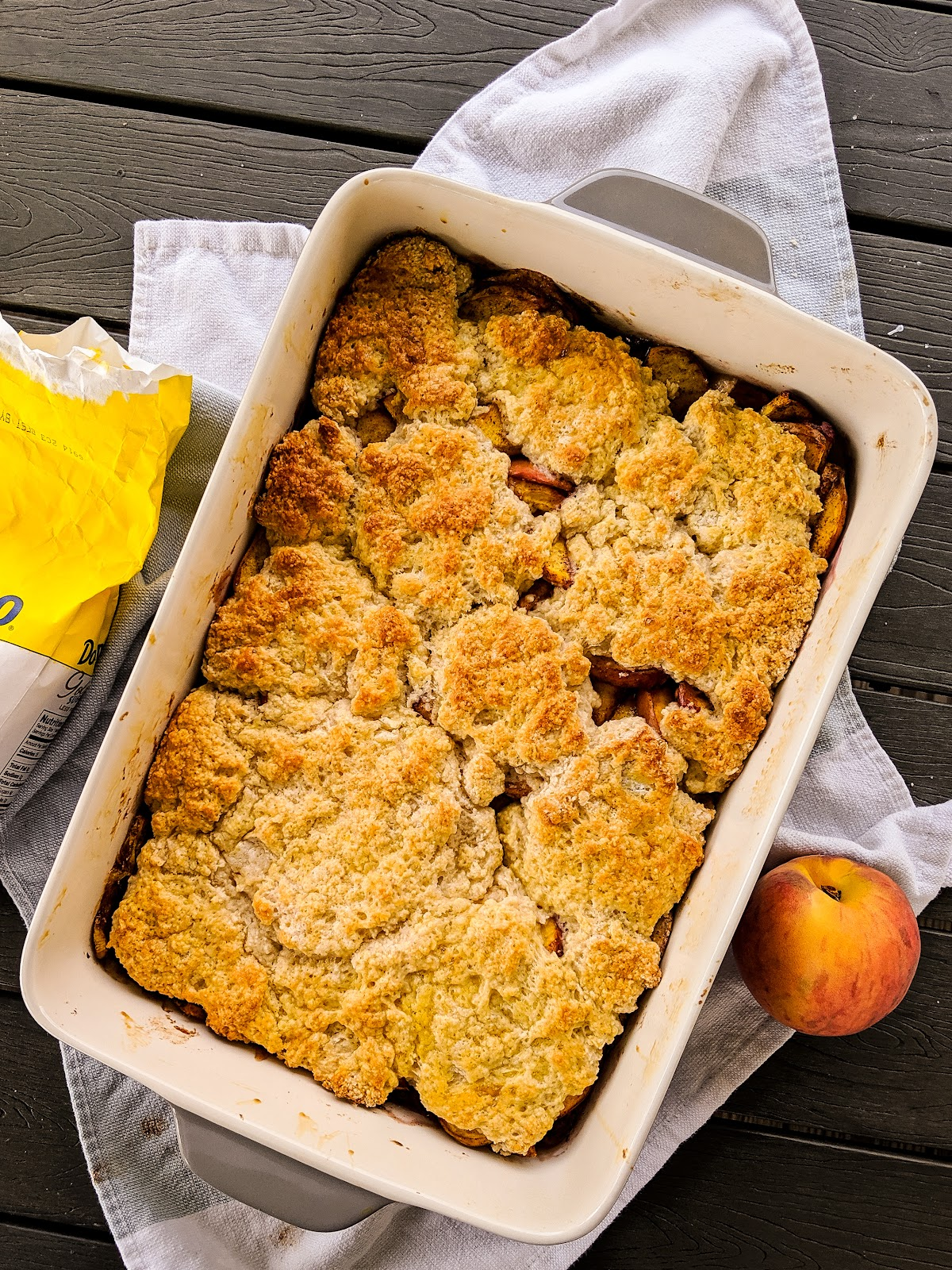 easy and healthy peach cobbler weight watchers low sugar peach cobbler