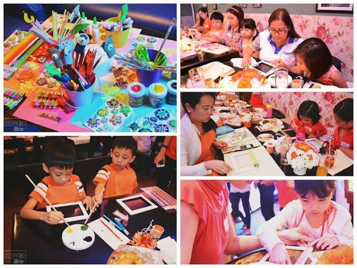 PLDT HomeBro Family Bundle Launch Mommy Bloggers with Kids in Designing a Frame Activity