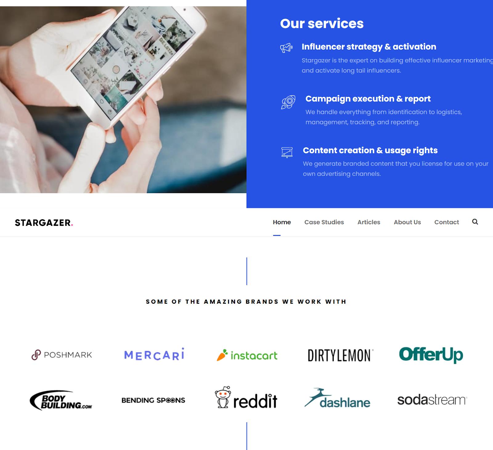 Stargazer. Top influencer marketing agency 2021