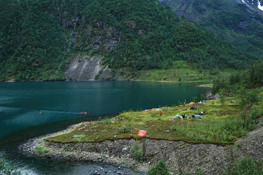 Norja, ensimmäinen leiripaikka