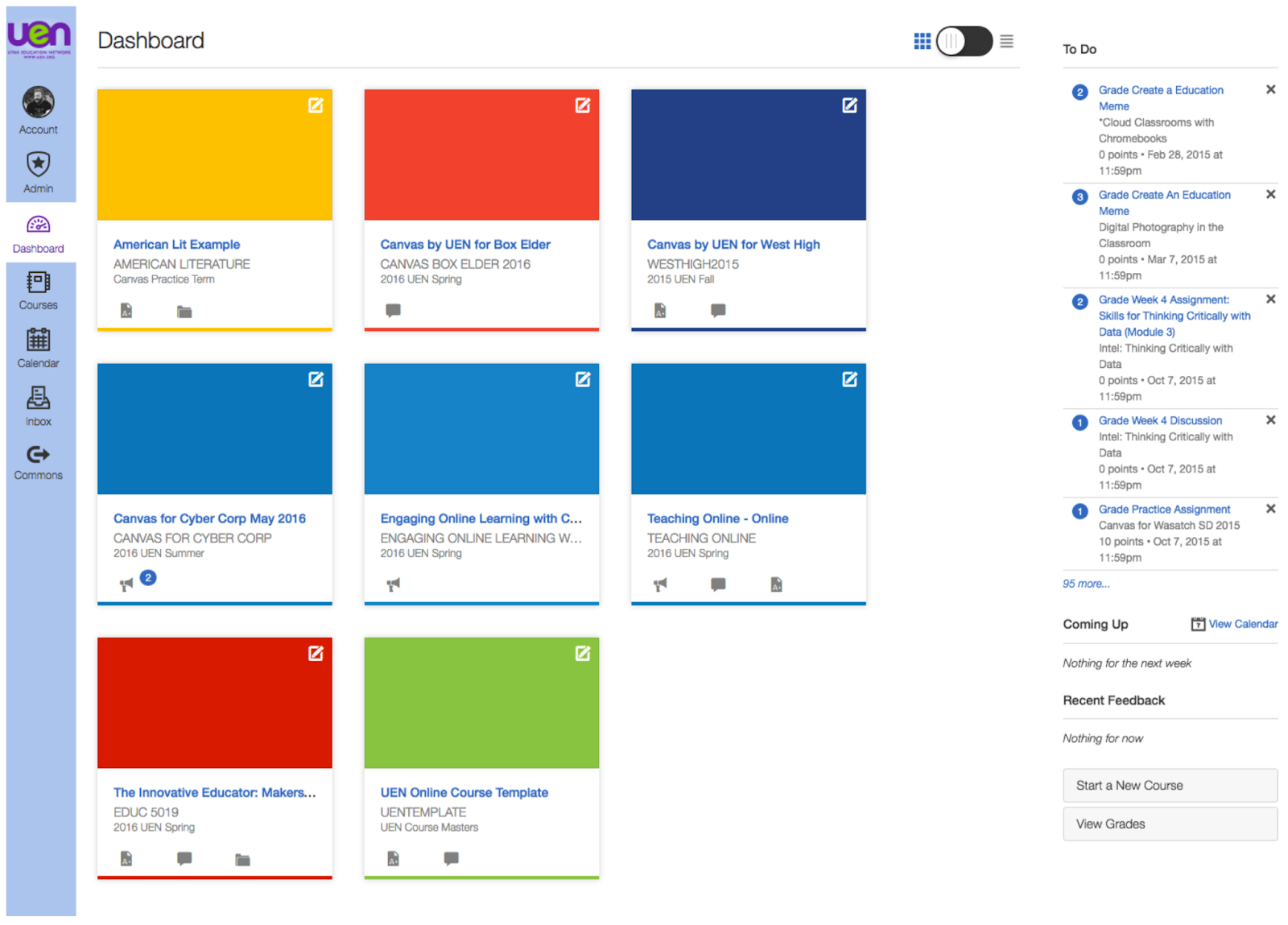 Canvas for creating online management systems
