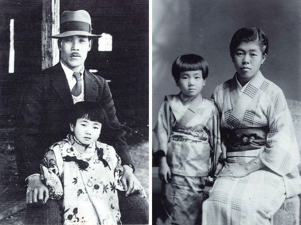 Рейко з батьком та старшою сестрою Шизує Ура