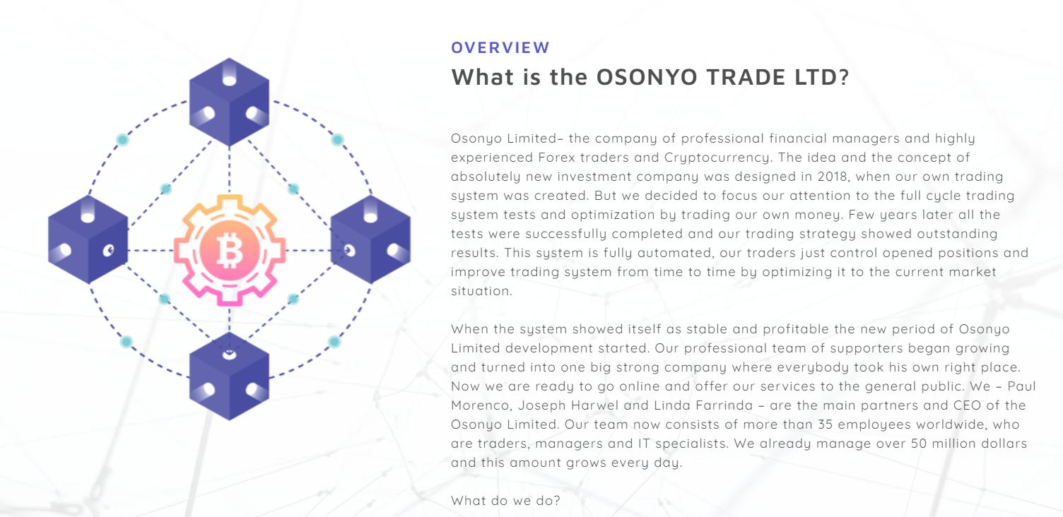 Отзывы об пирамиде Osonyo Trade. Чего следует ожидать от инвестпроекта? обзор