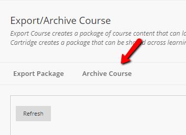 Scholar Archive Course Button