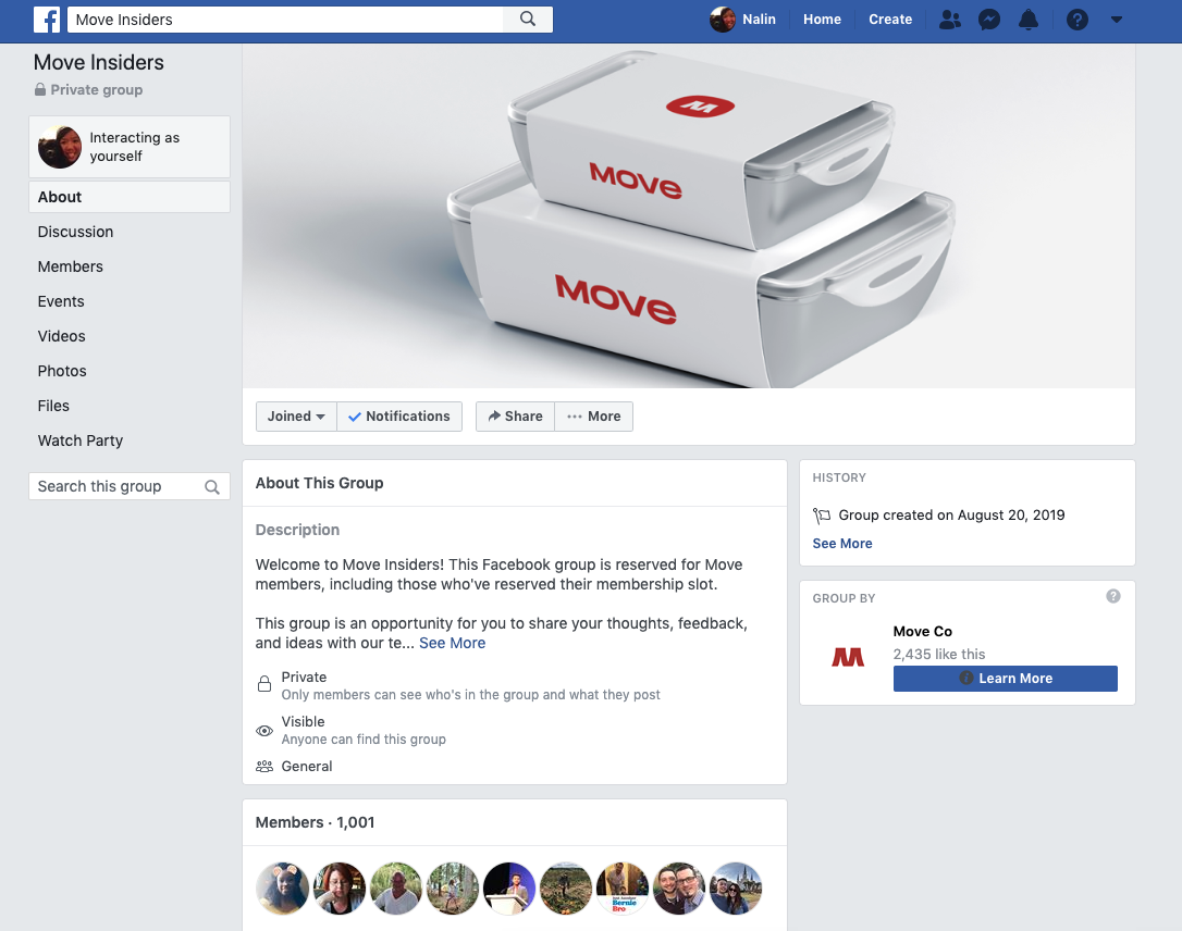 move used facebook groups to promote theyr content with their crowdfunding audience