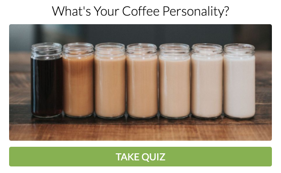 coffee personality quiz cover