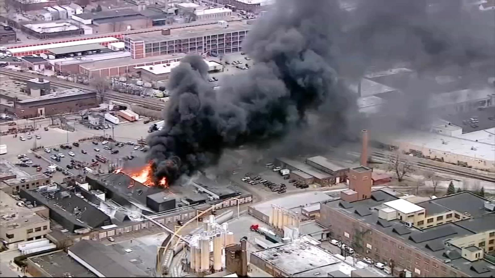 Massive fire destroys Newly Weds Foods factory on Chicago ...