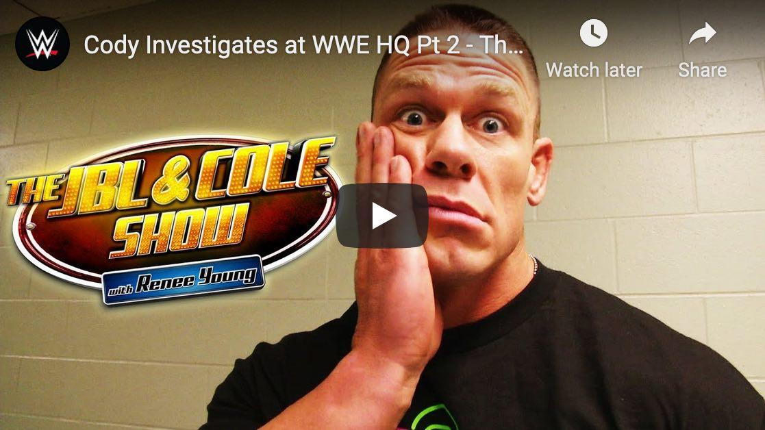 WWE behind the scenes