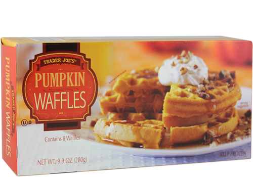 Box of Trader Joe's Pumpkin Waffles
