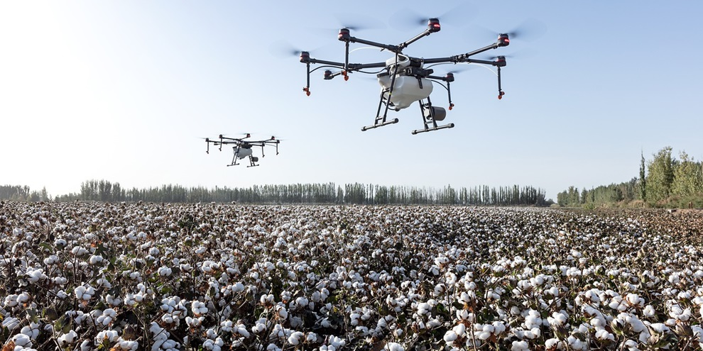 Drone para auxílio na agricultura (Fonte: Pixabay/Reprodução)