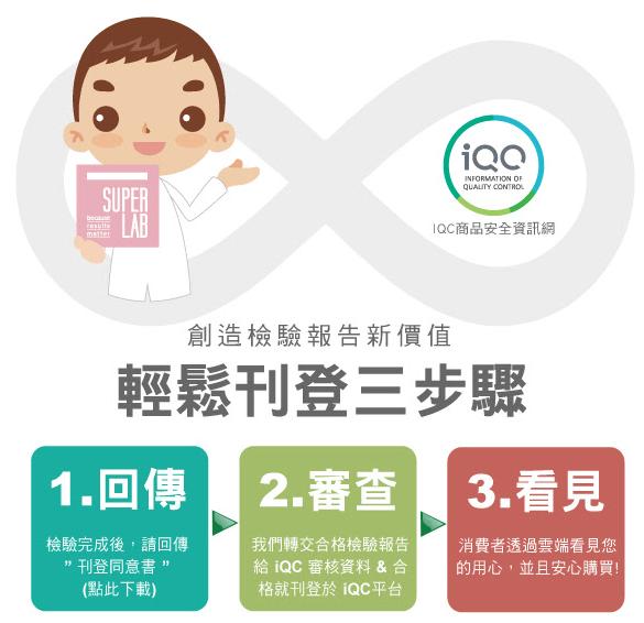 iQC 刊登流程的步驟