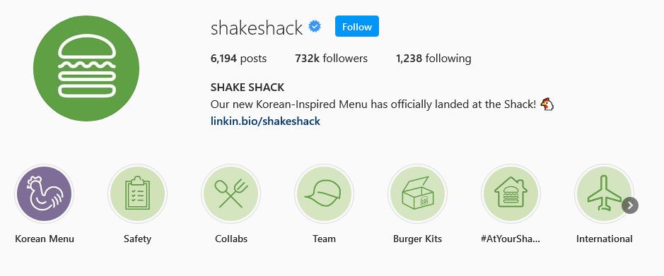 instagram brands shake shack