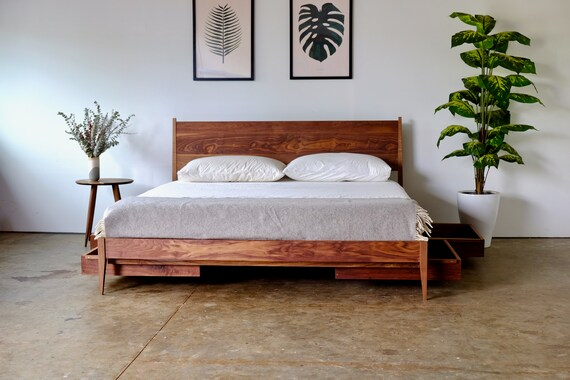 DIY Mid-Century Bed Frame Ideas